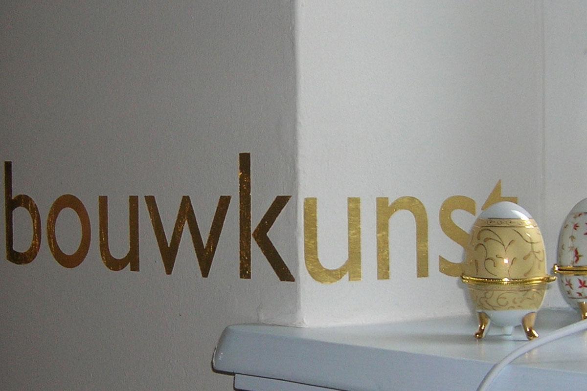 Buchstaben Schrift in Gold 24 Karat