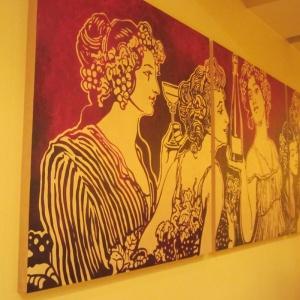 Gemälde mit Gold und Wein, Margret Weirauch - Ihre Raumentfaltung