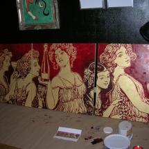 Malerei auf Gold, Margret Weirauch - Ihre Raumentfaltung Ort: Luxemboug Casino2000
