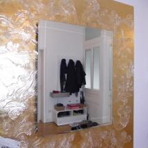 Wandvergoldung hinter Spiegel, Margret Weirauch - Ihre Raumentfaltung