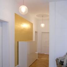 Wandvergoldung im Flur, Margret Weirauch - Ihre Raumentfaltung