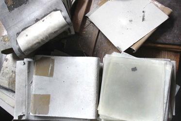 Herstellung Blattgold Material Pergamentpapier