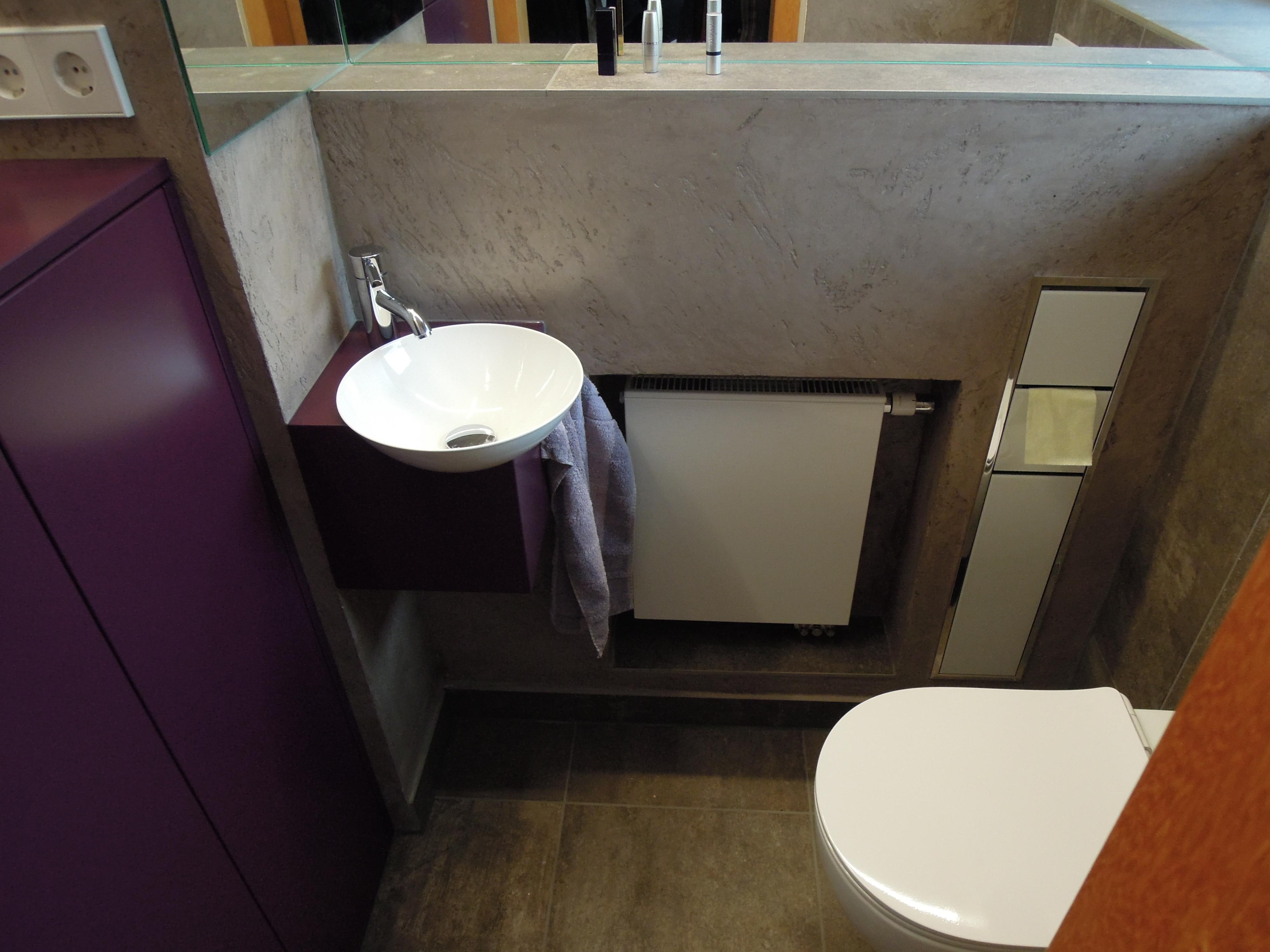 Gäste WC mit Einbauten