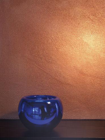 Wand mit Glanz
